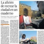Periódico El Día de Córdoba, reportaje en hojas interiores y contraportada